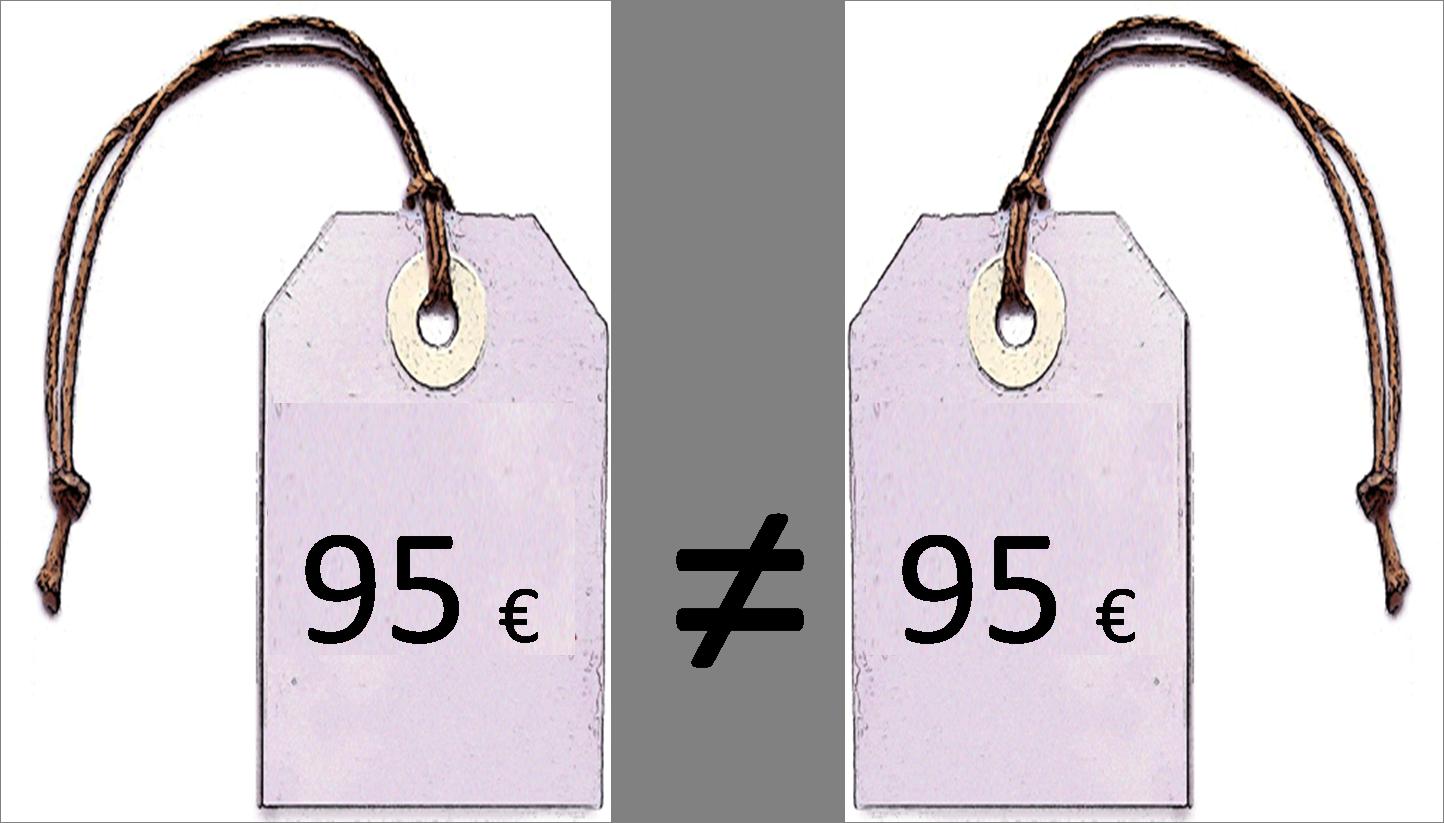 95 € no es igual a 95€