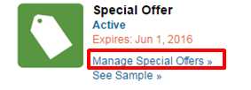 Manage spacial offers