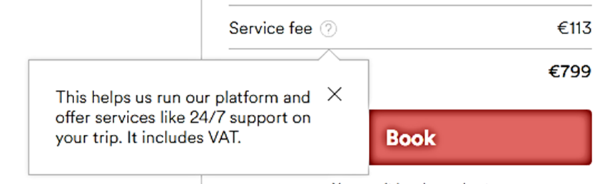 airbnb service fee