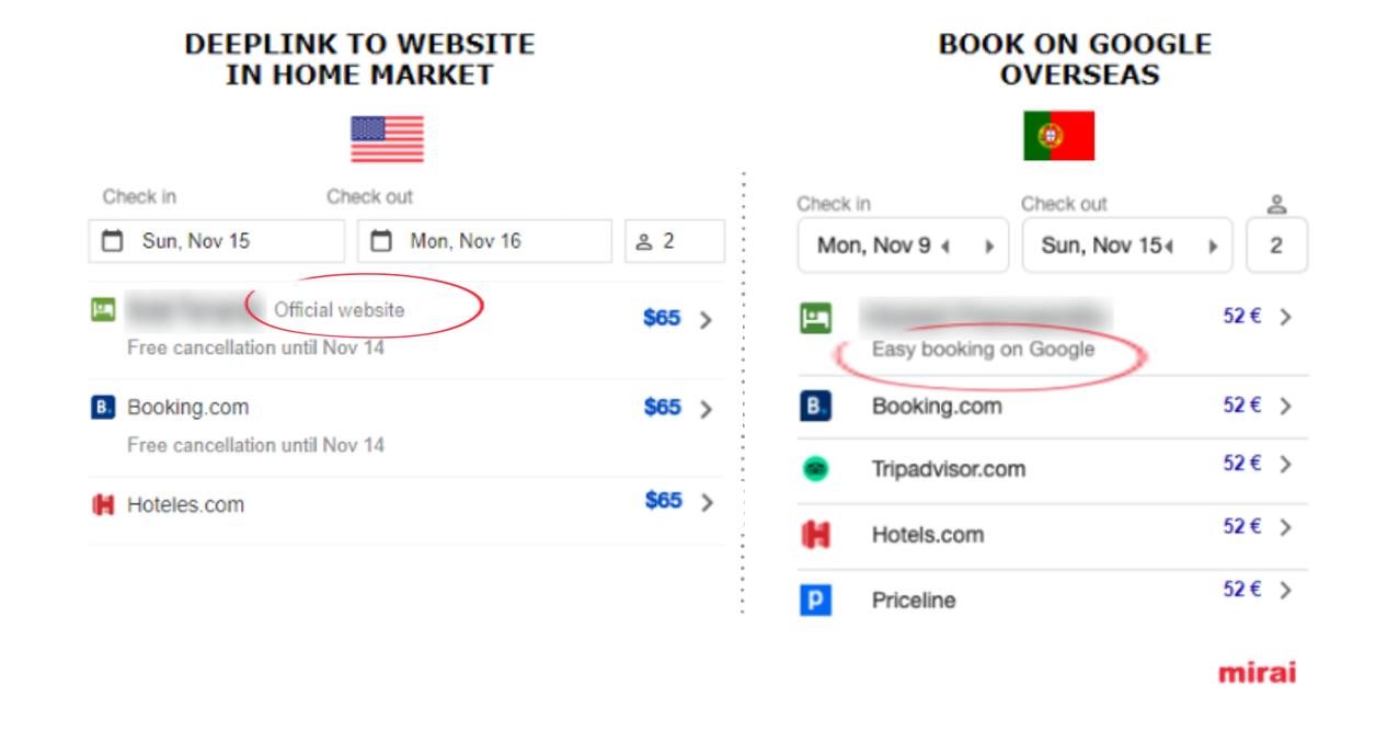 Deeplink or Book on Google - Mirai